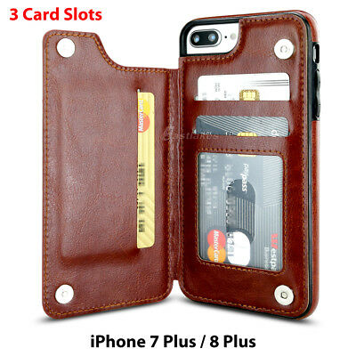 Apple iPhone X XS MAX 8 PLUS XR Case Flip Leather Wallet Card Shockproof Cover 11