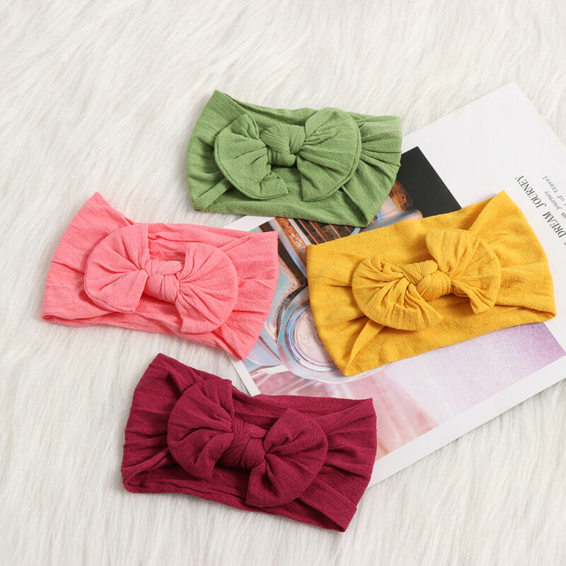 Baby Toddler Girls Kids Bunny Rabbit Bow Knot Turban Headband Hair Band Headwrap 4