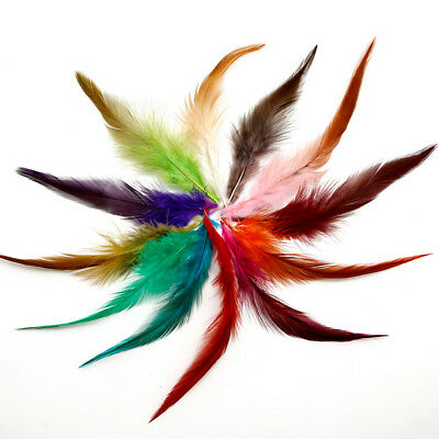 50Pcs Fluffy Rooster Tail Feathers For DIY Craft/Dress/Carnival Party Decoration 7