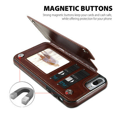 Flip Leather Wallet Case Card Shockproof Cover for iPhone XS Max XR 11 Pro 8 7 7