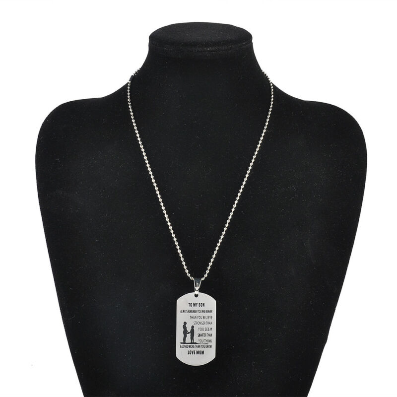 DOG TAG MOTHER Daughter Son Stainless Steel Pendant Family Love Charm  Necklace