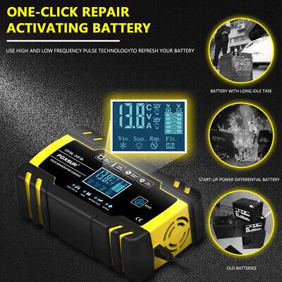 8 Amp Intelligent Car Battery Charger Pulse Repair Starter 12V/24V AGM/GEL UK 4