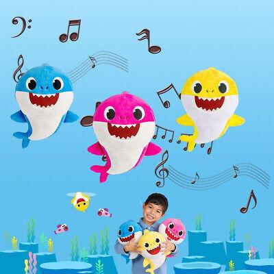 Baby Cartoon Plush Shark Toys Soft Singing Dolls Cute Gift for Kids Boys Girls 4