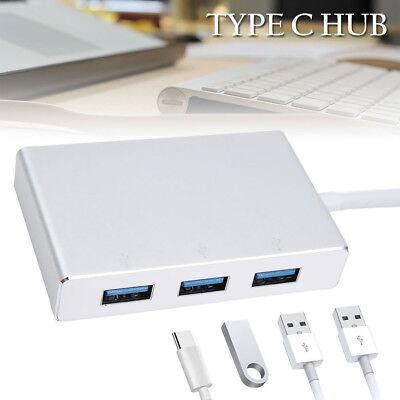 USB 3.1 Type C to HDMI VGA 3 Port USB 3.0 HUB Converter Adapter 5