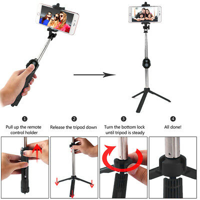 Unipod Selfie Stick Handheld Tripod Bluetooth Shutter For iPhone 11 Pro Samsung 7