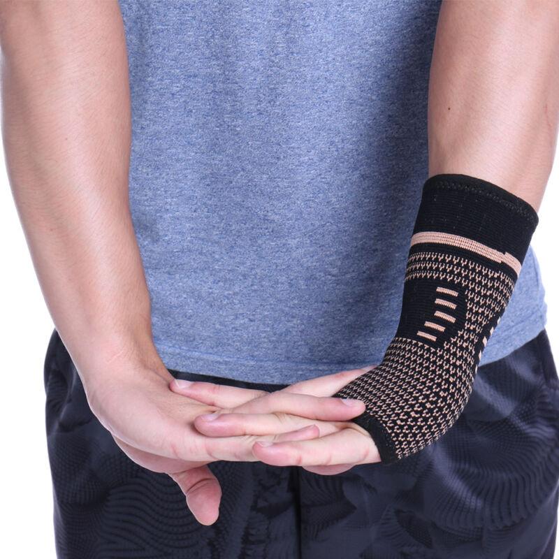 Copper Wrist Brace Compression Gloves Carpal Tunnel Support Hand Arthritis RSI 5