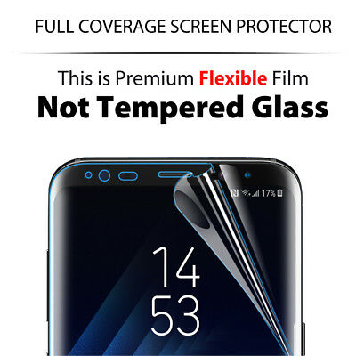 3x Galaxy S8 S8 Plus Flex Full Coverage Soft TPU Screen Protector For Samsung 8