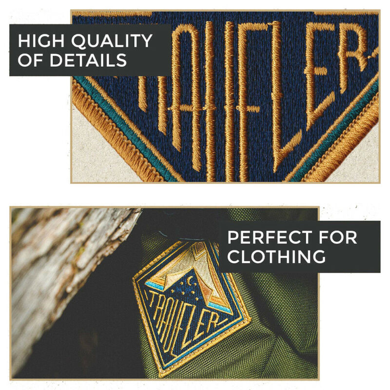 Outdoor Camping Embroidered Patch Nature Loving Badges Iron On Appliques 4