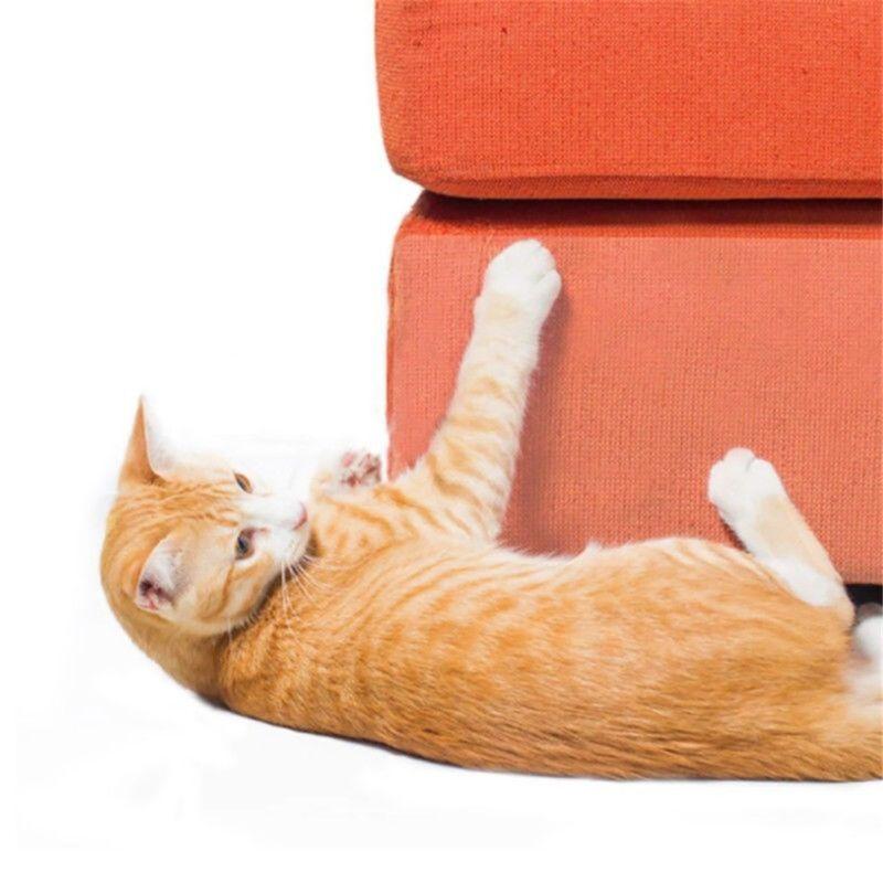 2Pcs Cat Scratch Guard Mat Pet Cat Scratching Post Furniture Sofa Seat Protector 4
