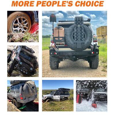 X-BULL Black Recovery Tracks Sand Track 10T 4WD Vehicle Sand/Snow/Mud 1 pair 2