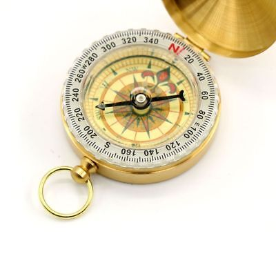Vintage Brass Noctilucent Pocket Compass Hiking Camping Watch Style Retro ONE 9