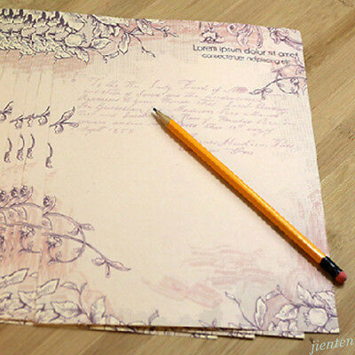 Rose Flower Writing Letter Paper Stationary Vintage Student Classic Stationery 11