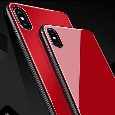 iPhone X XS MAX XR 7 8 Plus Slim Thin Bumper Case Cover Tempered Glass For Apple 4
