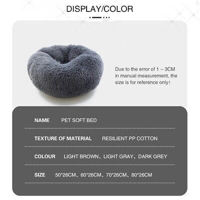 Large Pet Bed Luxury Shag Warm Fluffy Dog Bed Nest Cat Mattress Fur Donut Pad UK 8