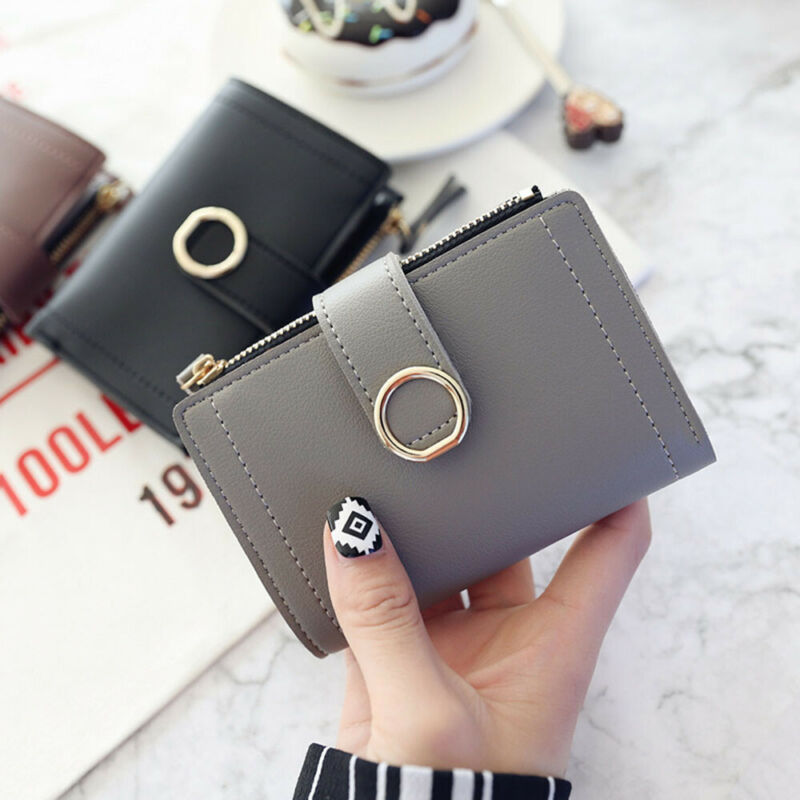 Fashion Women Ladies Leather Purse Money Clip Wallet Clutch Card Bag Holder Gift 2