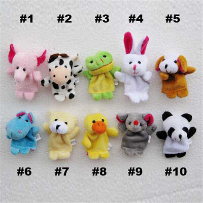 10Pcs/Pack Baby Kids Finger Animal Educational Story Toys Puppets Cloth Plush 7