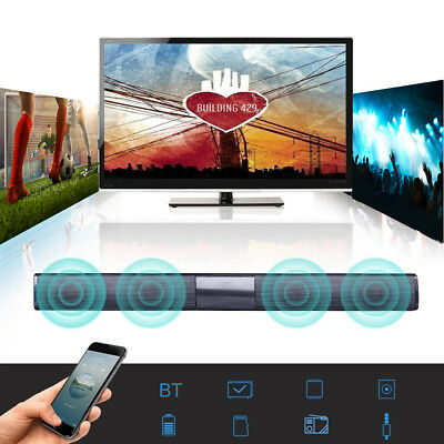 Wireless Bluetooth TV Soundbar 2 4 Speakers Sound Bar Home Theater Subwoofer RCA 2
