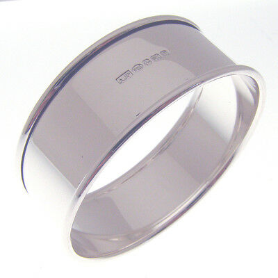 Four Silver Napkin Rings.  A Boxed Set Of 4 Hallmarked Silver Serviette Rings 4