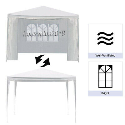 New 3X3m/4m/6m Waterproof Garden Gazebo Party Tent Marquee Awning Canopy Shelter 10