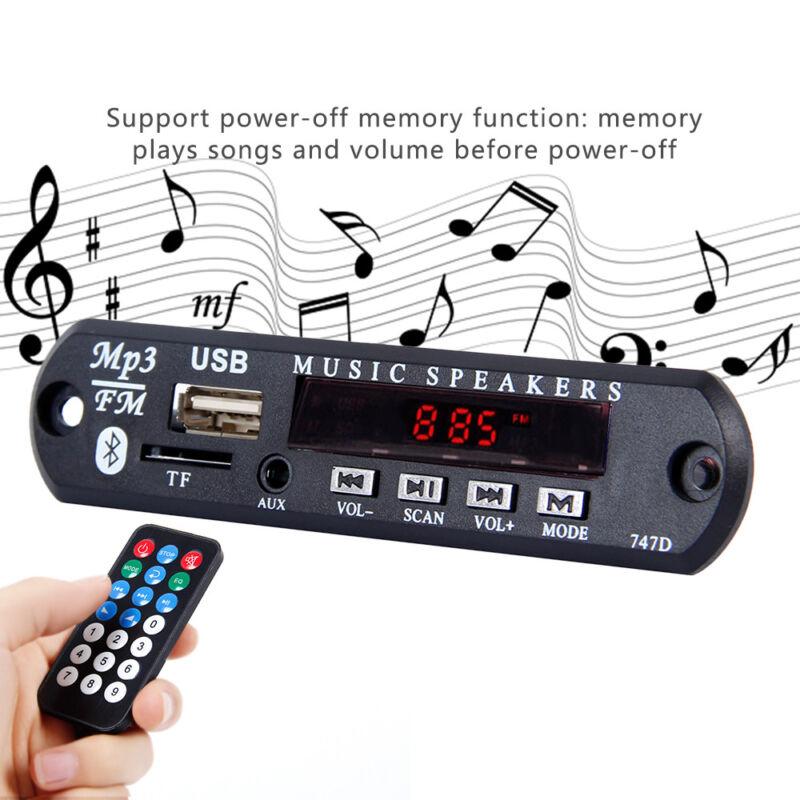 Inalámbrico Bluetooth 12V MP3 WMA decodificador tarjeta  audio módulo USB radio 6