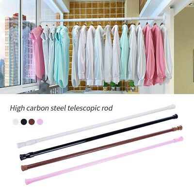 Spring Load Extendable Telescopic Net Voile Tension Curtain Rail Pole Rod No 8