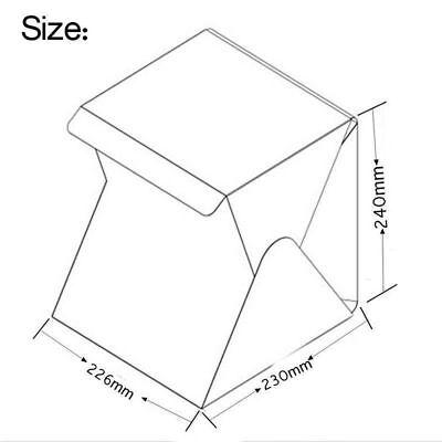 Box Foto Fotografico Led Foto Cubo Sfondo Nero Bianco Pieghevole Tenda Fotografi 7