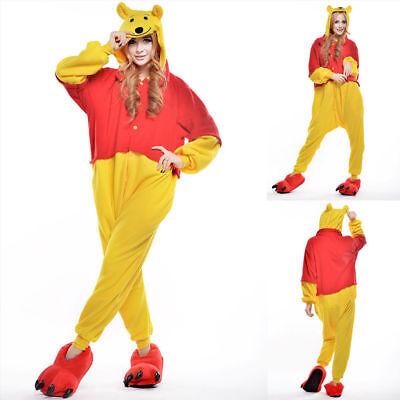 Unisex Adult Winnie The Pooh Flannel Onesie11 Cosplay Costume Kigurumi Pajamas* 2