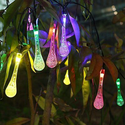 50 100 200 LED Solar Power Fairy Lights String Garden Outdoor Party Wedding Xmas 11