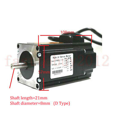 DSP Closed Loop Stepper Drive Motor 2.2NM Nema23 +200W Power Supply +3M Cables 5