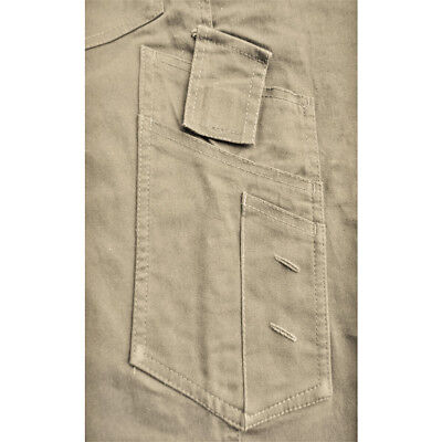 CARGO PANTS Mens Work Trousers Classic Fit UPF 50+ Stretch Cotton Drill 3M Tape 3