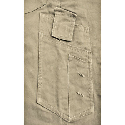 CARGO PANTS Stretch Straight Fit Mens Classic Work Trousers Cotton Drill 3M Tape 3