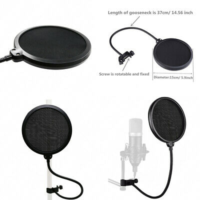 Professional Studio Condenser Microphone Kit Recording Broadcasting Shock Mount 11