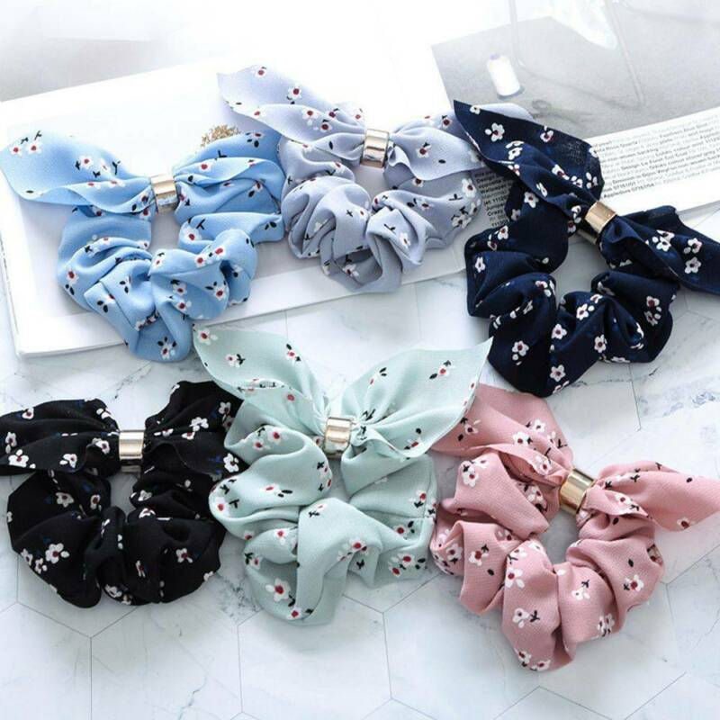 Women Simple Satin Ribbon Bow Hair Rope Ponytail Holder for Hair Accessories 3