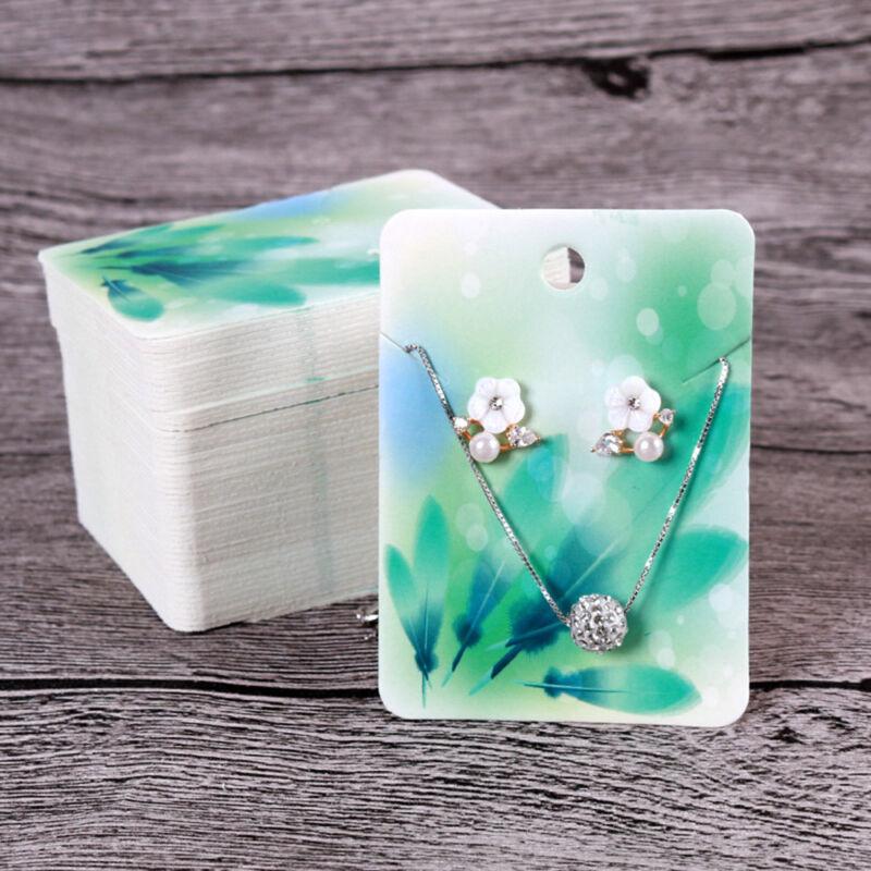 Earring Display Paper Holder Hanger Cards Tags Craft Market