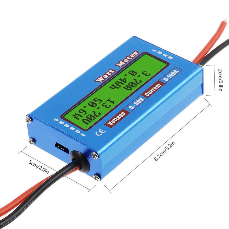 Digital LCD Monitor 60V/100A Watt Meter DC Ammeter RC Battery Power Amp Analyzer 5