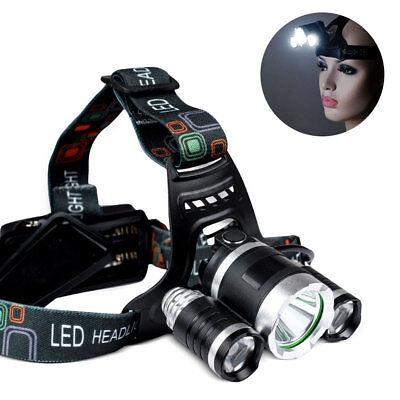 12000LM Lampes frontales 3 XM-L T6 LED USB Rechargeable lampe de poche torche 2