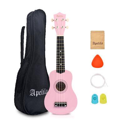 21 inch Soprano Ukulele Apelila Acoustic Mini Guitar Music Instrument + Gig Bag 8