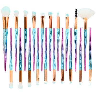 20PCS Kabuki Make up Brushes Makeup Foundation Powder Blusher Eyeshadow Brush AU 3