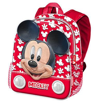 Abbigliamento e accessori Topolino Mickey Mouse  zaino zainetto 3D,asilo,scuola,set merenda 31/7 Borse