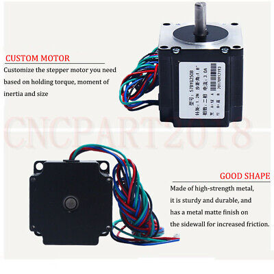 Stepper Motor Nema23 330oz-in 2.2NM 1.8° 4-wires+TB6600 Driver Kit 3A CNC Router 6