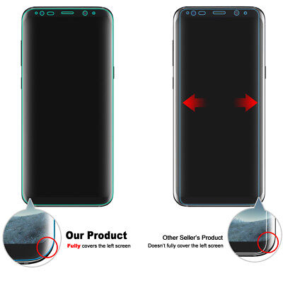 3x Galaxy S8 S8 Plus Flex Full Coverage Soft TPU Screen Protector For Samsung 3