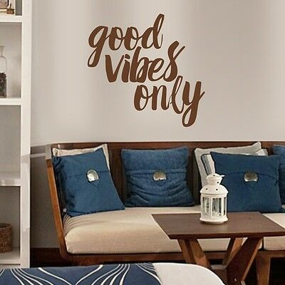 Inspirational Wall Sticker Good Vibes Only Quote Living Room Removable Art Decor