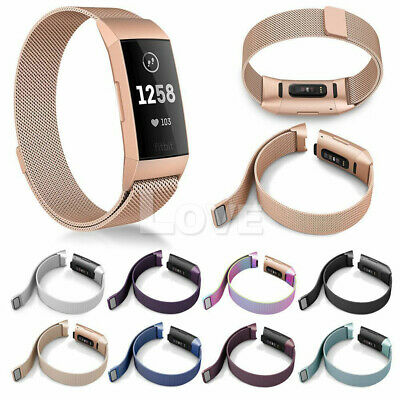 For Fitbit Charge 3 Strap Replacement Milanese Watch Band Stainless Steel Magnet 3