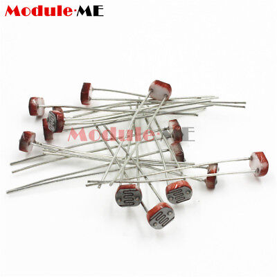 50PCS Photoresistor LDR CDS 5mm Resistor Sensor Light-Dependent GL5516 Arduino 3