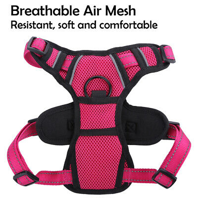 Dog Harness No-Pull Pet Harness Vest Adjustable Outdoor Reflective Easy Control 2