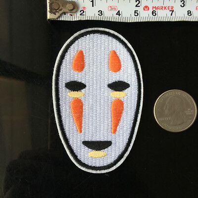 1Pcs Cartoon Spirited Away Studio Ghibli No Face EMBROIDERED iron/SEW on patch