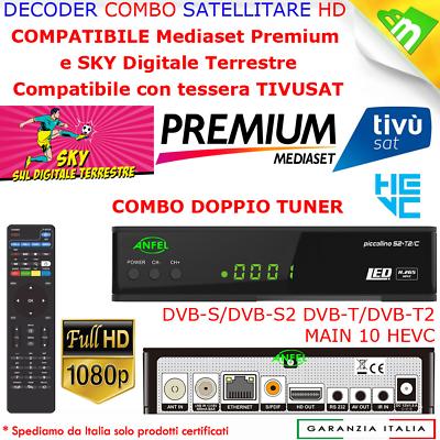 Decoder Digitale Satellitare Tivu Sat Bware Combo Hd Tivusat Con Scheda Inclusa 3