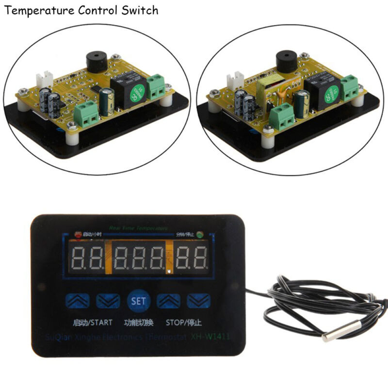 12/220V 10A Digital LED Temperature Controller Thermostat Control Switch Probe 2