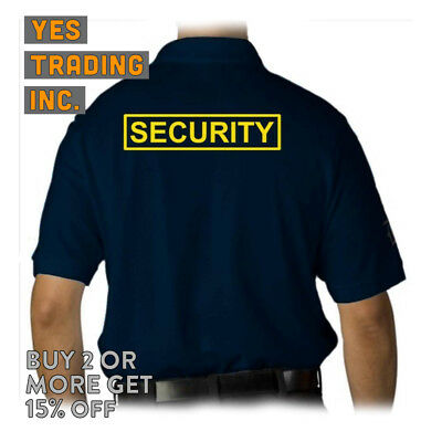 Mens Security Polo Shirt Law Enforment Police Shirts Safety Work Uniform Guard 7