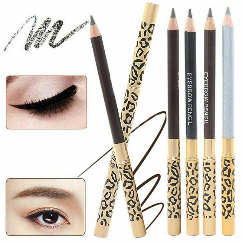 2in1 Waterproof Eyebrow Pencil With Brush Leopard Print Long Lasting Makeup 4